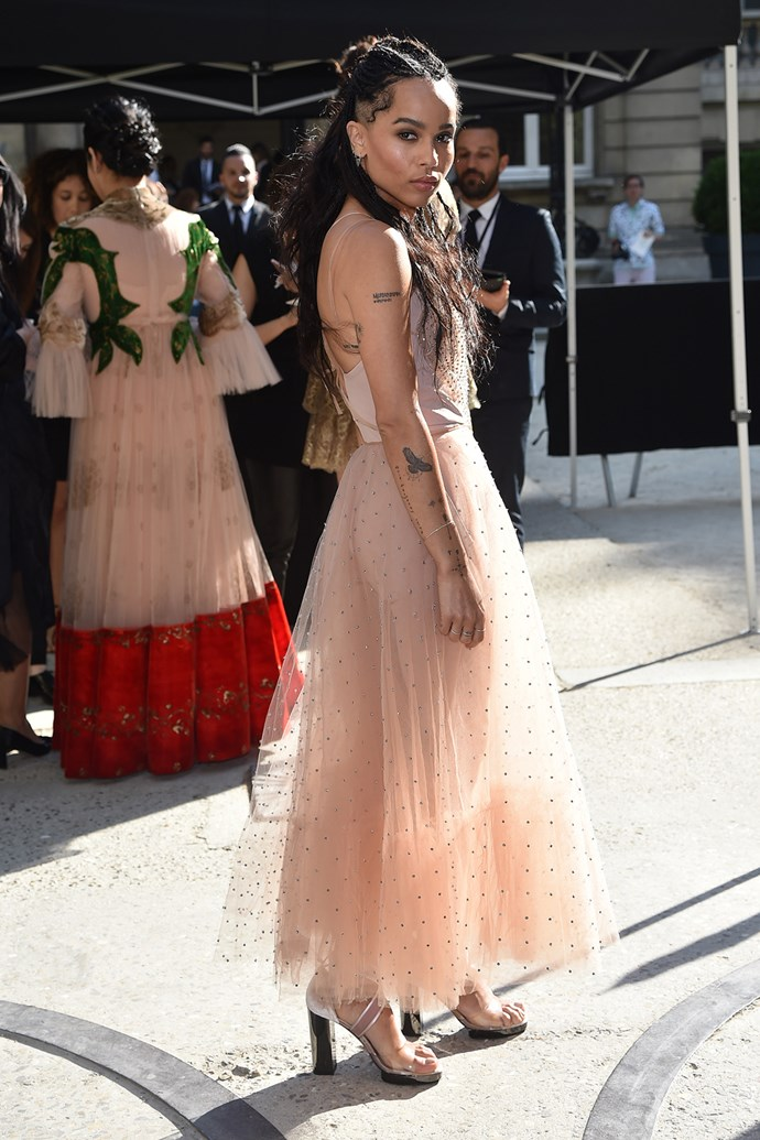 Zoë Kravitz at Valentino