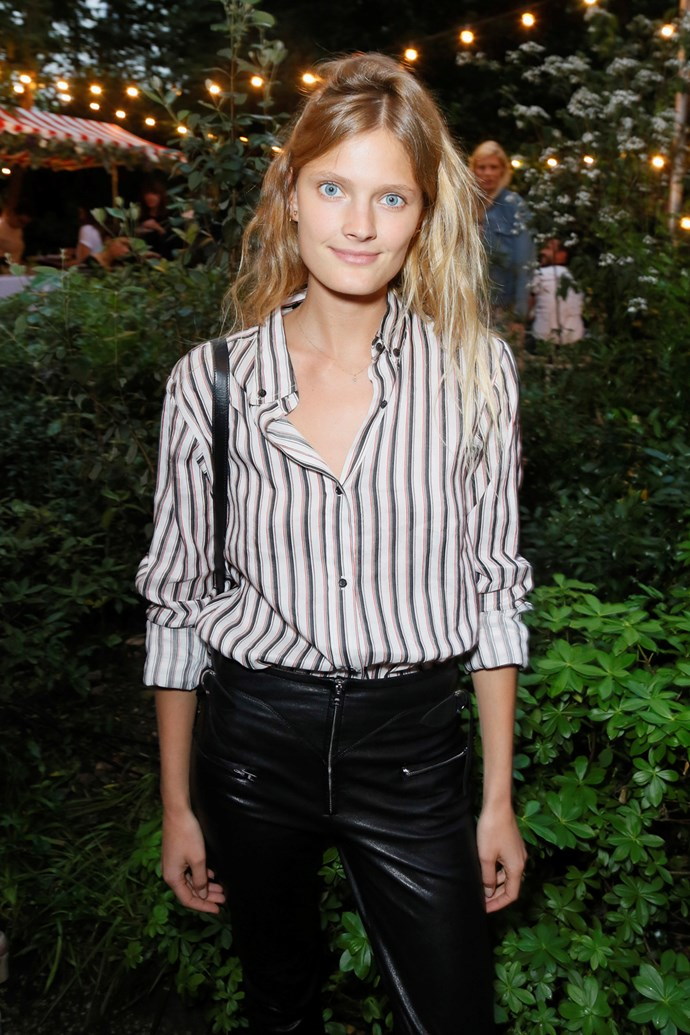 Constance Jablonski at Isabel Marant and mytheresa.com's Paris Fashion Week party