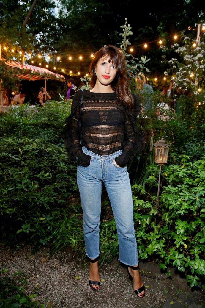 Jeanne Damas at the Isabel Marant and mytheresa.com Paris Fashion Week party