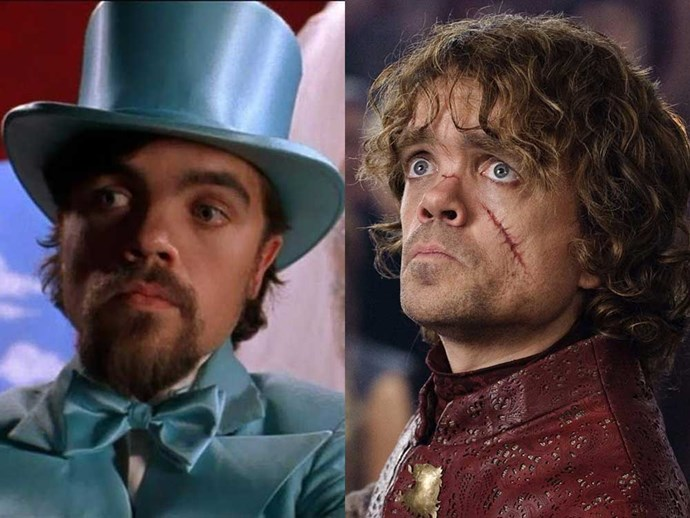 </p><p><b>Peter Dinklage</b> as Tito in <em>Living in Oblivion</em> (1995), and as Tyrion Lannister in <em>Game of Thrones</em>.