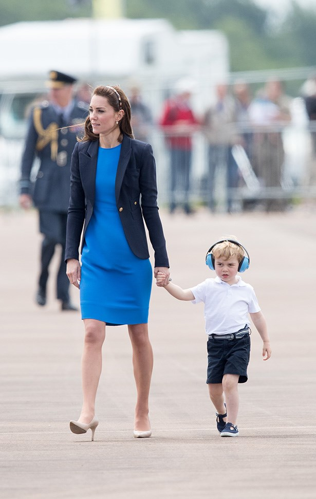 Prince George and Kate Middleton at the International Air Tattoo.