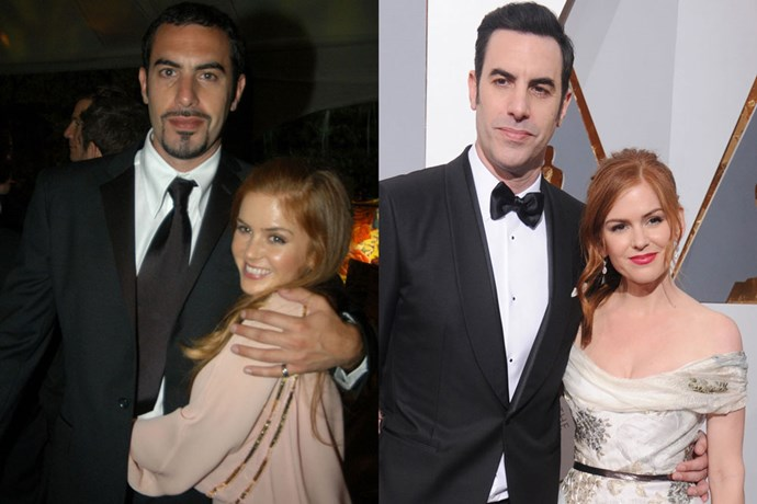 <strong>Isla Fisher and Sacha Baron Cohen</strong><br> Fisher and Baron Cohen met in Sydney in 2002 and were engaged just two years later, with Fisher converting to Judaism in order to marry Baron Cohen in 2010. The couple has three children: two daughters and a son.