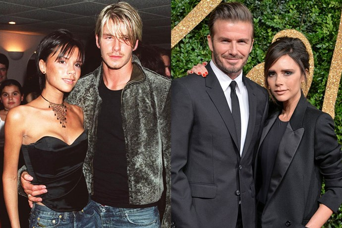 <strong>Victoria and David Beckham</strong><br> The two started dating in 1997 after meeting at a charity football match, and were married in July 1999. They have four children—Brooklyn, Romeo, Cruz and Harper.