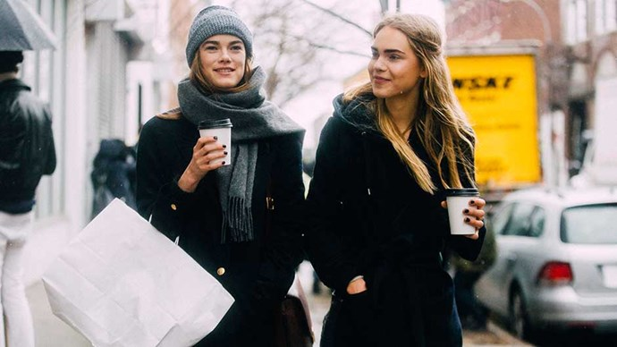 Models with coffee