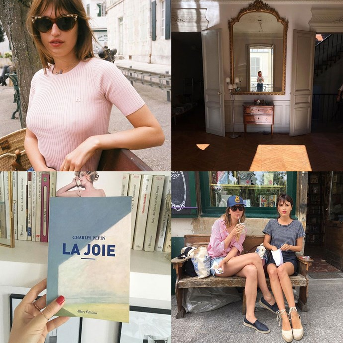 "<strong>Jeanne Damas (<a href=""https://www.instagram.com/jeannedamas/"">@jeannedamas</a>)</strong><br> A model, blogger, and now the founder of clothing label <a href=""http://www.rouje.com/"">Rouje</a>, Damas' feed is rife with effortless outfit ideas, apartment porn and inspiration to wear a red lip every day of your life."