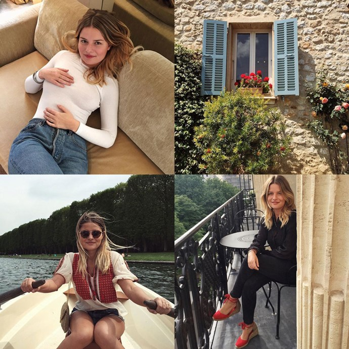 """<strong>Sabina Socol (<a href=""""https://www.instagram.com/sabinasocol/?hl=en"""">@sabinasocol</a>)</strong><br> A writer and editor for French <em>L'Officiel</em>, there's an unapologetically French ingenuity to Socol's style. Full disclosure: the Parisian cityscapes on her feed will do nothing to curb your wanderlust."""