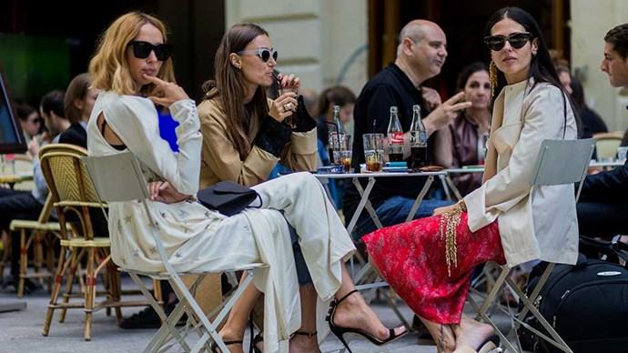 Women sipping soda