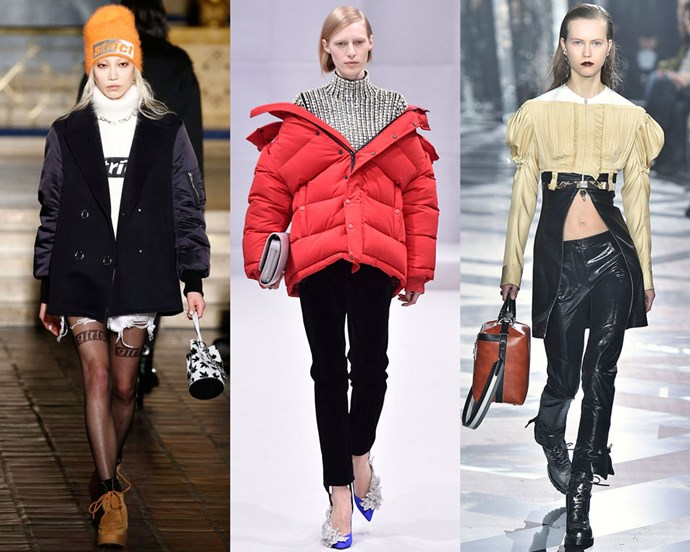 Runway looks from Alexander Wang, Balenciaga and Louis Vuitton