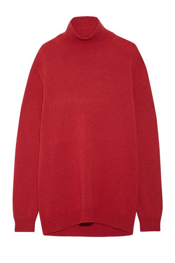 "<a href=""https://www.net-a-porter.com/au/en/product/733782/Marni/cape-back-wool-and-cashmere-blend-turtleneck-sweater"">Sweater, $957, Marni at net-a-porter.com</a>"