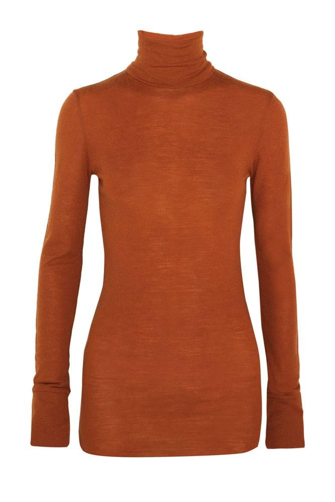 """<a href=""""https://www.net-a-porter.com/au/en/product/730315/Etoile_Isabel_Marant/joey-wool-jersey-turtleneck-top"""">Top, $336, Étoile Isabel Marant at net-a-porter.com</a>"""