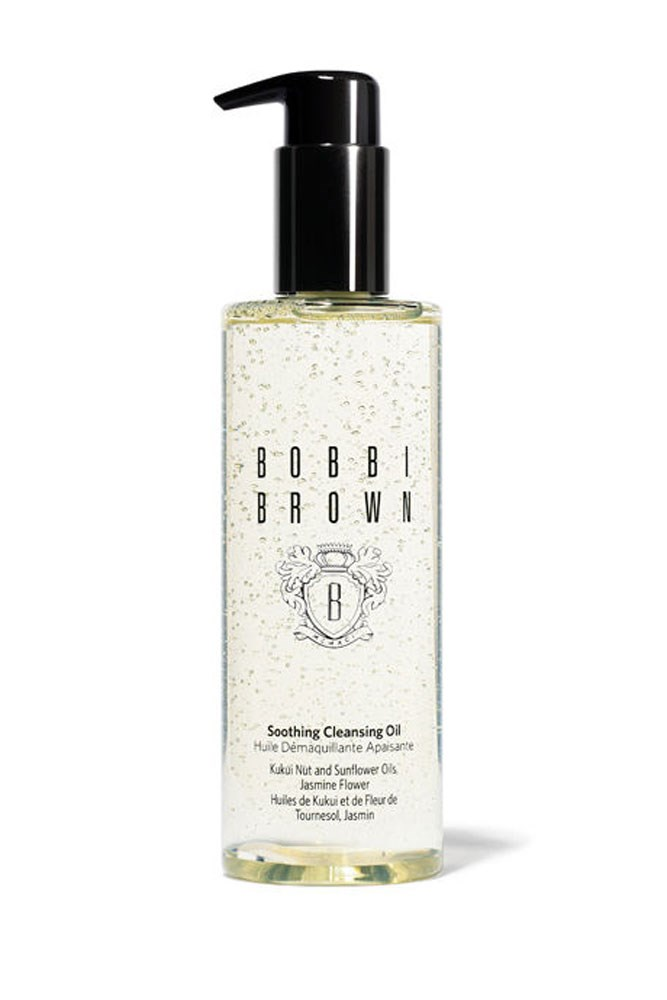 """The Oil Cleanser<br> <a href=""""http://www.myer.com.au/shop/mystore/beauty/skin-care-cleansers/bobbi-brown-soothing-cleansing-oil"""">Soothing Cleansing Oil, $63, Bobbi Brown</a>"""