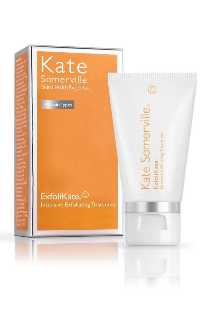 "The Facial Exfoliator<br> <a href=""http://mecca.com.au/kate-somerville/exfolikate-intensive-exfoliating-treatment/V-017876.html"">ExfoliKate Intensive Exfoliating Treatment, $127 for 60ml, Kate Somerville</a>"
