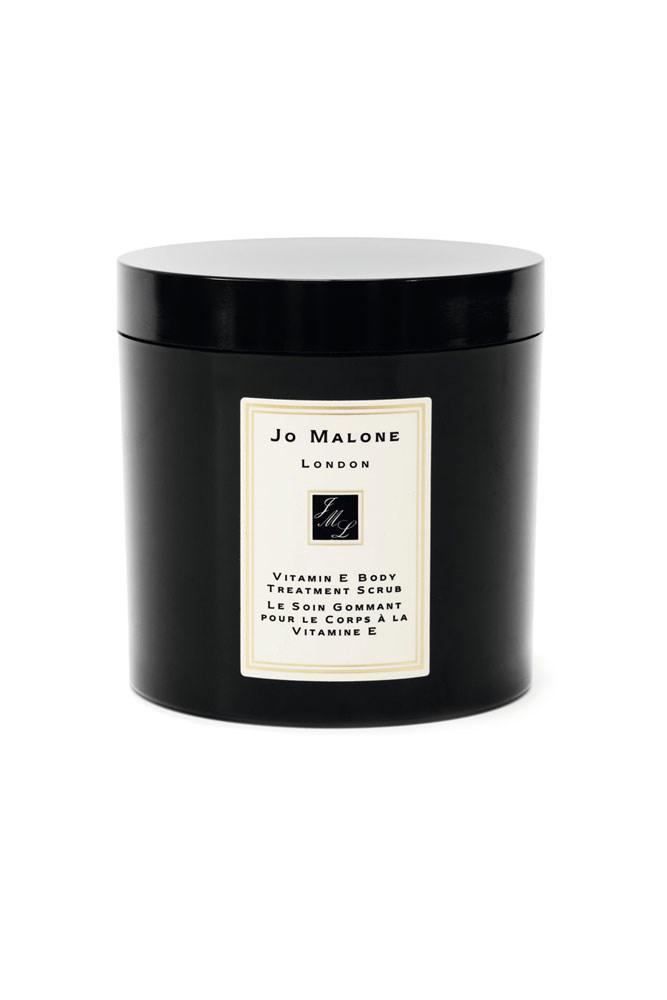 "The All-Over Scrub <a href=""http://shop.davidjones.com.au/djs/ProductDisplay?catalogId=10051&productId=14321&langId=-1&storeId=10051"">Vitamin E Body Treatment Scrub, $155, Jo Malone London</a>"