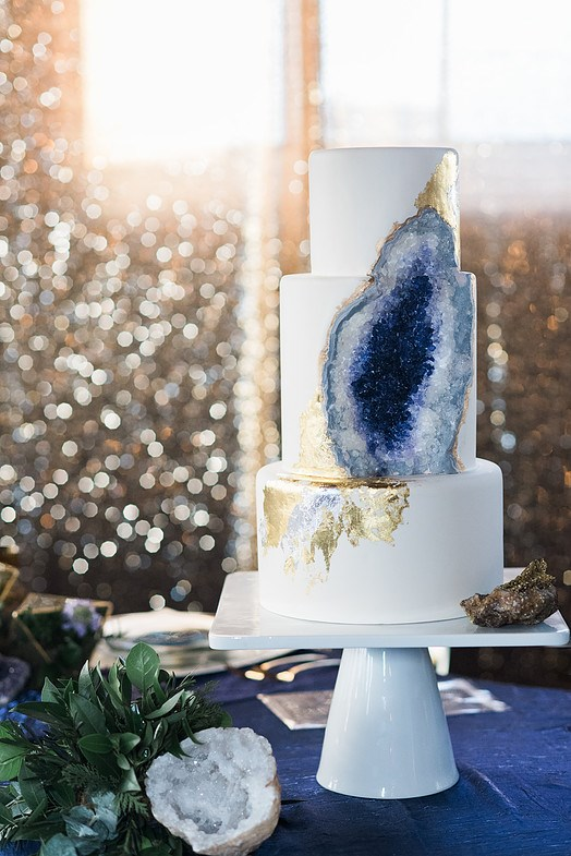 "<P> GEODE<P> <P> If you're into crystals, then you're probably going to be into geode cakes. Bakers use crystallised sugar and food colouring to make these beautiful formations. <p> <p> <a href=""http://www.intricateicings.com/"">Intricate Icings Cake Design</a>."