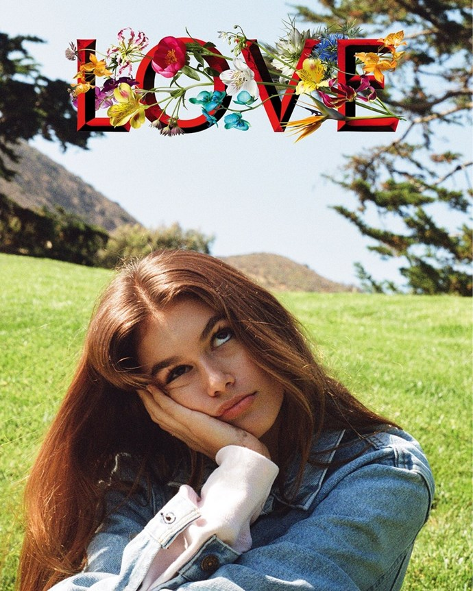 Kaia Gerber for Love Magazine