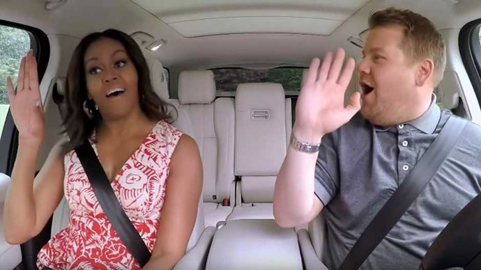 Michelle Obama will appear on 'The Late Late Show's' Carpool Karaoke segment.