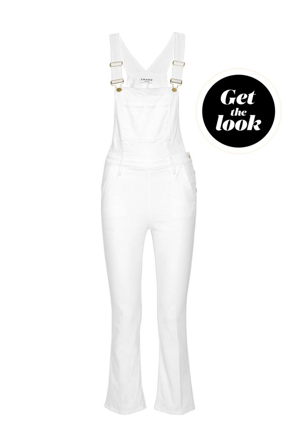 "Overalls, $478, <a href=""https://www.net-a-porter.com/au/en/product/716462/Frame/antibes-cropped-stretch-denim-overalls"">FRAME Denim at net-a-porter.com</a>."