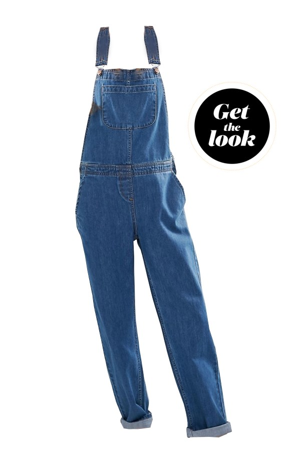 "Overalls, $91, <a href=""http://www.asos.com/au/ASOS/ASOS-Denim-Dungaree-in-Stonewash-Blue/Prod/pgeproduct.aspx?iid=6493594&cid=15167&sh=0&pge=1&pgesize=36&sort=-1&clr=Stonewash+blue&totalstyles=67&gridsize=3"">ASOS</a>."