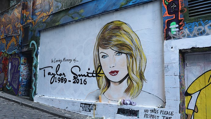 Taylor Swift Melbourne memorial mural.