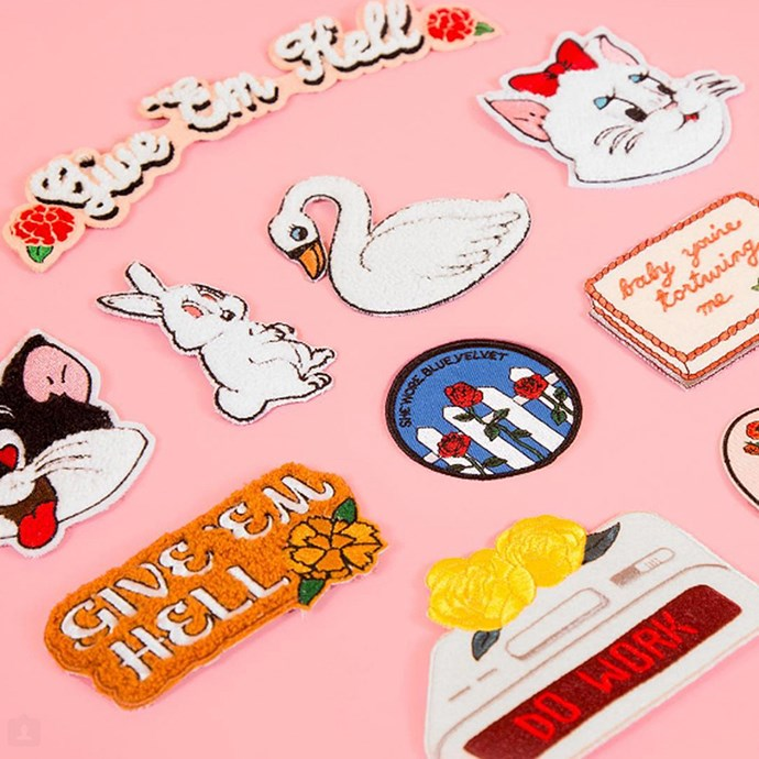 Lazy Oaf pins.