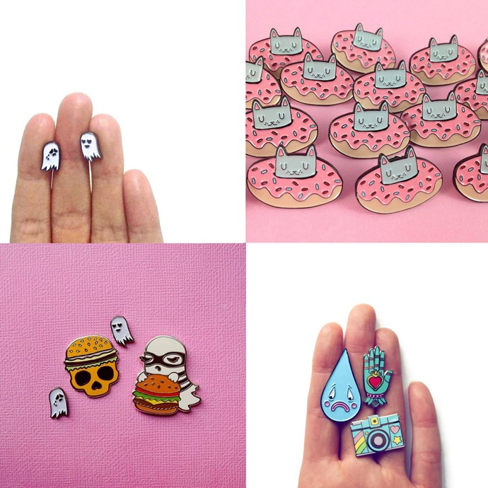 """<P> <a href=""""https://www.instagram.com/triangleofbears/"""">TRIANGLE OF BEARS</a><p> <p> Melbourne's Gemma Triangle makes not only enamel pins, but handcrafted leather brooches, too."""