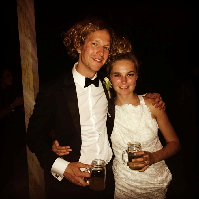 "<p> Australian model Bridget Malcolm tied the knot with her fiancé, musician Nathaniel Hoho, over the weekend in Pennsylvania. Bridget wore a custom white lace Lover dress.<p> <p> <strong><em>RELATED:</em></strong> <a href=""http://www.elle.com.au/news/fashion-news/2016/5/getting-ready-with-bridget-malcolm/"">Get Ready With Bridget Malcolm</a>"