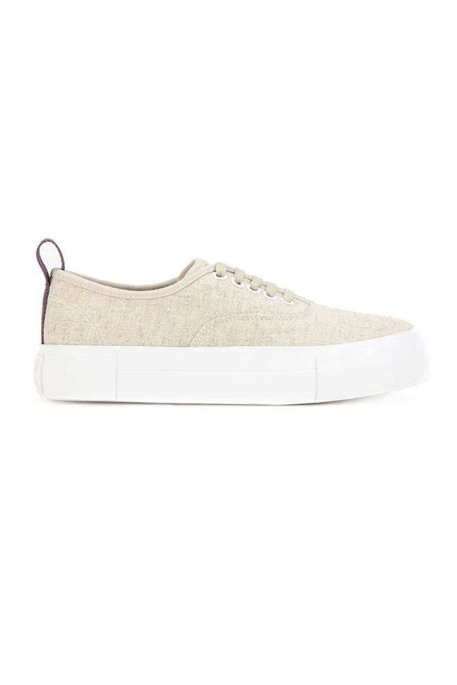 "<a href=""http://www.mytheresa.com/en-au/mother-linen-sneakers-550907.html"">Sneakers, $147, Eytys at mytheresa.com</a>"
