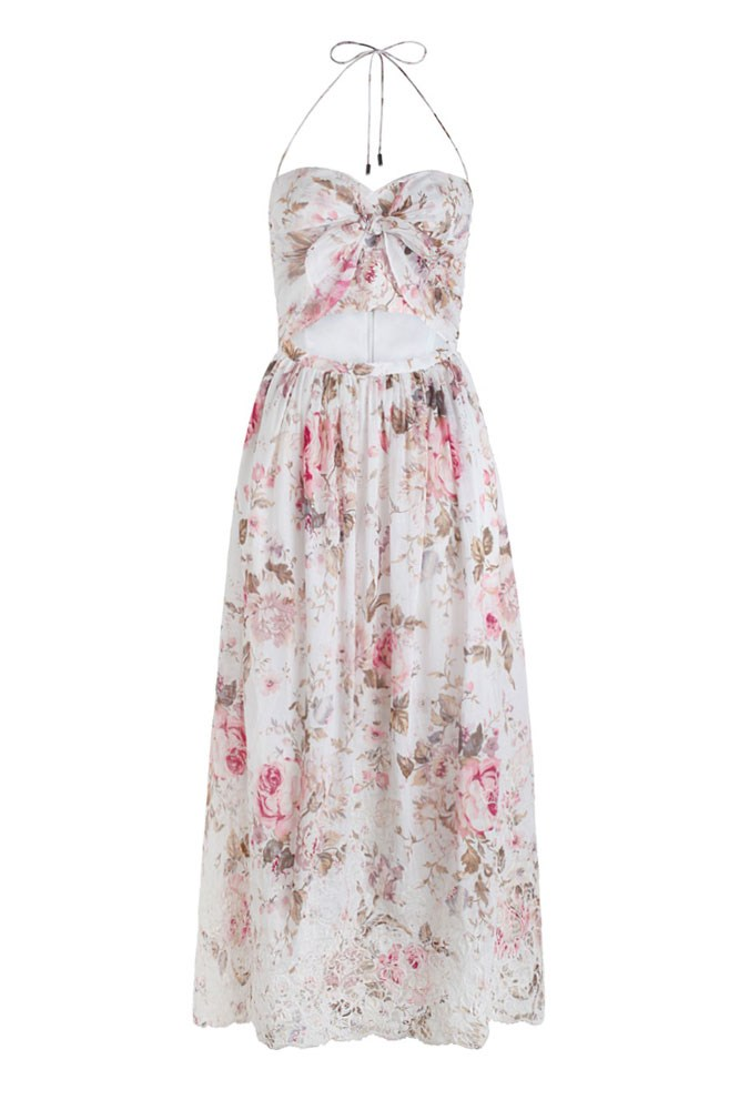 "<a href=""https://www.zimmermannwear.com/swim-and-resort/clothing/dresses-coverups/eden-embroidered-tie-dress-floral-embroidery.html"">Dress, $495, Zimmermann</a>"