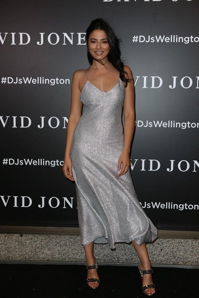 Jessica Gomes at the David Jones Wellington store opening. Photo: David Jones