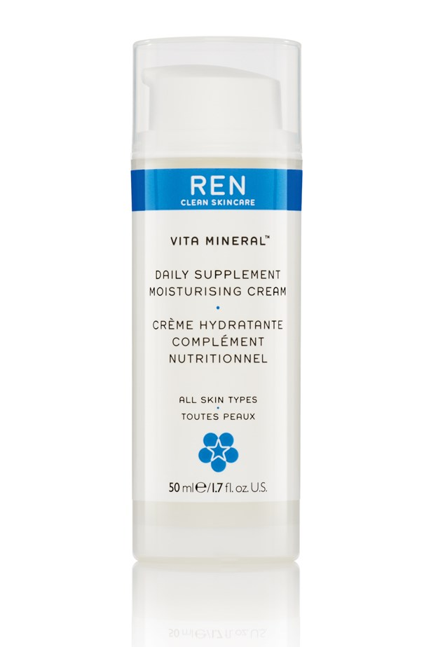 """<p><strong>Vita Mineral Daily Supplement, $42, Ren, mecca.com.au</strong></p> <p>""""I keep my skincare routine simple by using a multi-purpose moisturiser each night."""" - Claudia Jukic, Market Editor</p>"""