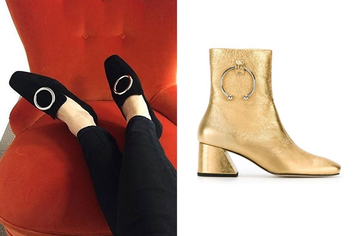"""<strong>Dorateymur</strong><br> While the British brand has been around for a few years, its statement boots are having a moment anew. ELLE fashion editor Emma Kalfus, for one, is """"obsessed at the moment,"""" fully embracing their second coming.<br> <a href=""""http://www.dorateymur.com/"""">dorateymur.com</a><br> <em><a href=""""http://www.farfetch.com/au/shopping/women/dorateymur--nizip-boots-item-11438107.aspx?storeid=9817&from=1&ffref=lp_pic_30_1_lst"""">Boots, $486, Dorateymur at farfetch.com </a></em>"""