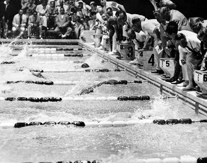 <P> <strong>1960, ROME: LET'S EYEBALL IT?</strong><p> <p> American Lance Larson and Australian John Devitt finished the 100-meter freestyle swim within split seconds of each other. Back then, without any hi-tech gear to determine the winner, there was nothing to decide the victor other than the judges' eyeballs, and no one could agree. Ultimately, after about a day, the judges gave the win to Devitt, even though Larson touched the side first.