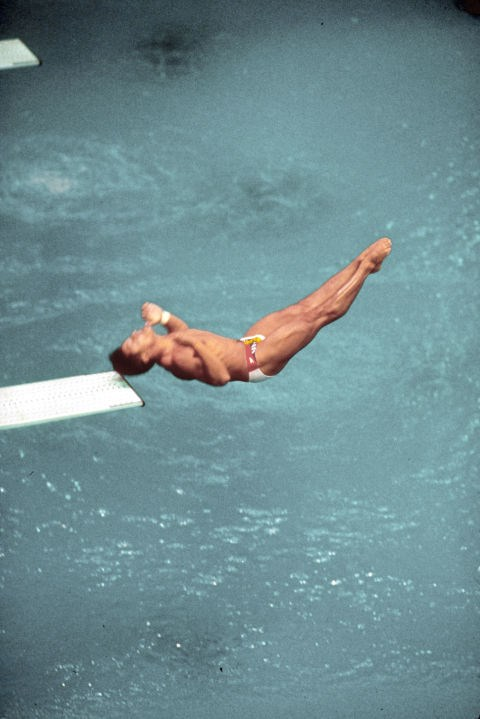 <P> <strong>1988, SEOUL: FIRST STOP, HEAD INJURY, NEXT STOP... GOLD?</strong><p> <p> You can see it clearly here: American diver Greg Louganis is hitting his head on the diving board in the preliminary rounds of the Olympics. He suffered a concussion after the gasp-worthy accident, and yet...he still went on the win the gold, earning the victory by a margin of 25 points.
