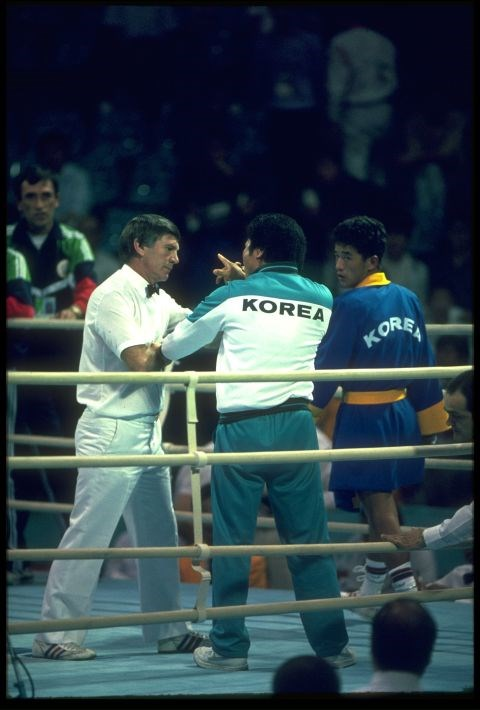 <P> <strong>1988, SEOUL: KNOCKOUT DECISION</strong><p> <p> When the judges declared that American Roy Jones Jr. officially lost the championship bout to South Korean Park Si-Hun, it was an outrage: Most people there though Roy Jones Jr. would've <em>clearly</em>  been the winner—and with good reason. Jones pummeled Park for three rounds, landing 86 punches to Park's 32. (Later, judges admitted to having been wined and dined by the South Korean officials and feeling pressure to award a medal to their athlete.)