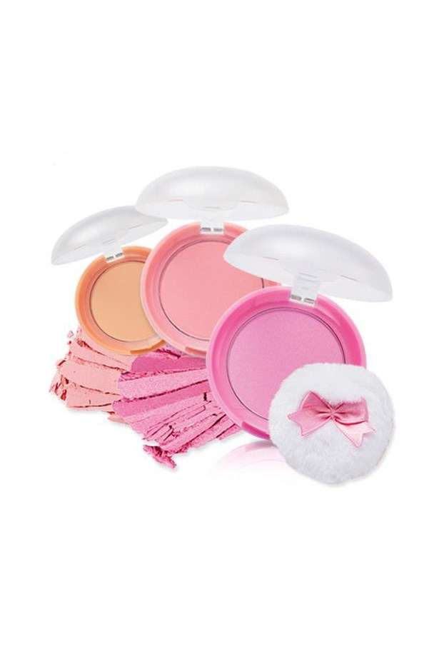 """</p><p><a href=""""http://www.etudehouse.com/index.php/face/cheek-highligter/lovely-cookie-blusher.html"""">Lovely Cookie Blusher</a>, $10"""