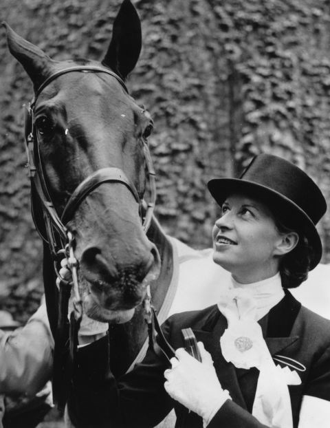 <p> <strong>1956</strong><p> <p> Danish equestrian Lis Hartel with her horse Jubilee at the Equestrian Olympic Games in Stockholm.