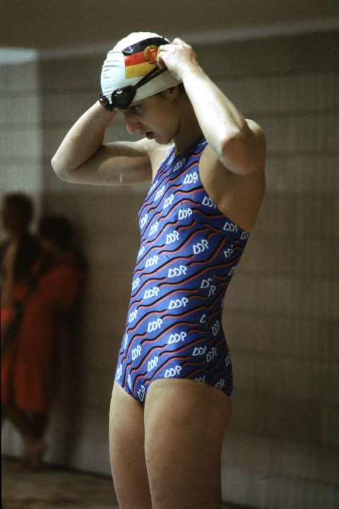 <p> <strong>1980</strong><p> <p> German swimmer Barbara Krause at the Olympic Games in Moscow, Soviet Union.