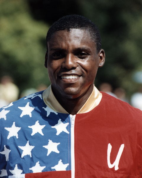 <p> <strong>1992</strong><p> <p> Track and field athlete Carl Lewis at the 1992 Games in Barcelona.