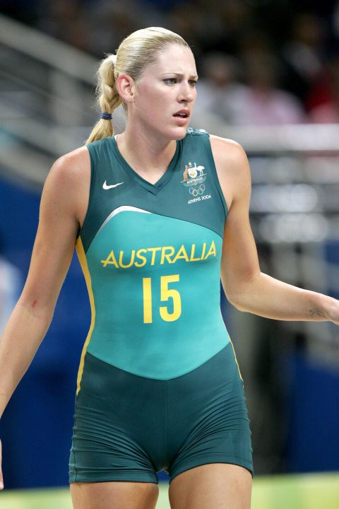 <p> <strong>2004</strong><p> <p> Lauren Jackson of the Australian women's basketball team at the games in Athens, Greece. Branding becomes more and more important at the beginning of the millennium, with sportswear logos and patriotic color schemes at the fore, and more streamlined fabrics cropping up with every game.