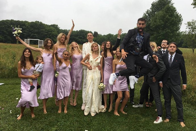 hanne gaby odiele john swaitek wedding party