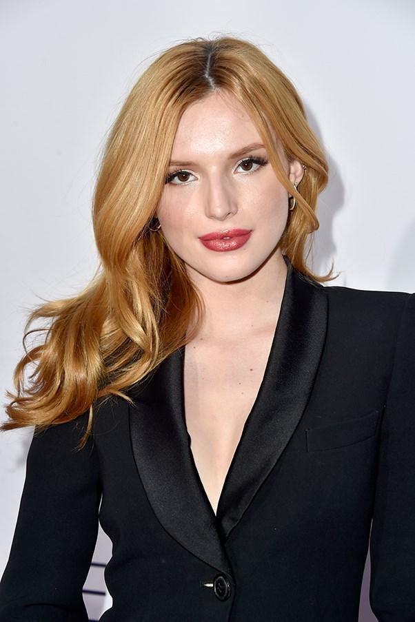 Bella Thorne in Black Jacket on Red Carpet