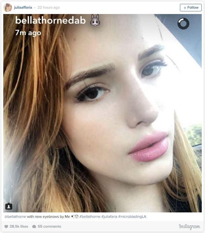 Júlia Faria Elmassian was the woman behind Bella's brows.