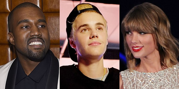 kanye west justin bieber taylor swift feud