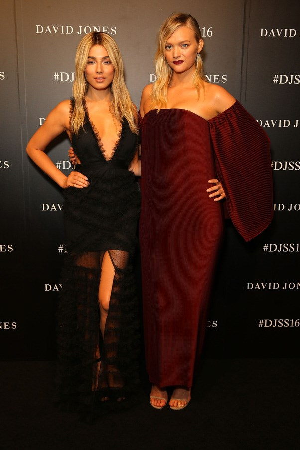 Jessica Gomes and Gemma Ward
