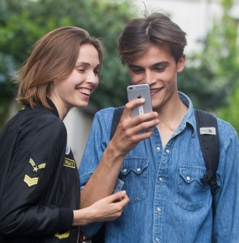 Models on Phones in Paris