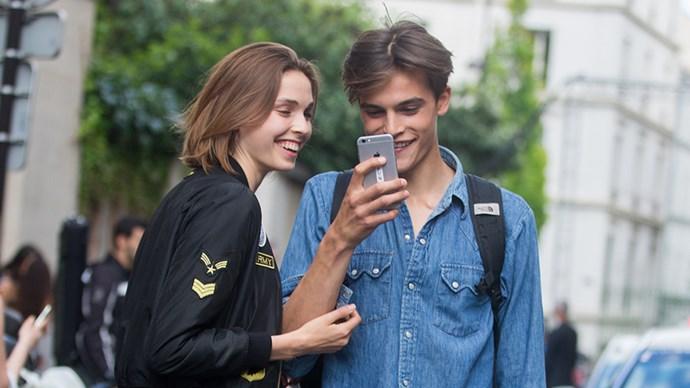 Models on Phones in Paris