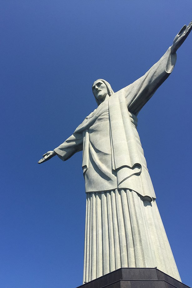 No stop in Brazil's buzzing city is complete without a visit to Christ the Redeemer. The 38 metre statue looms large atop a mountain overlooking Rio and is one of the New Seven Wonders of the World (along with the Taj Mahal, the Great Wall of China and the Colosseum). Bucket list, checked.