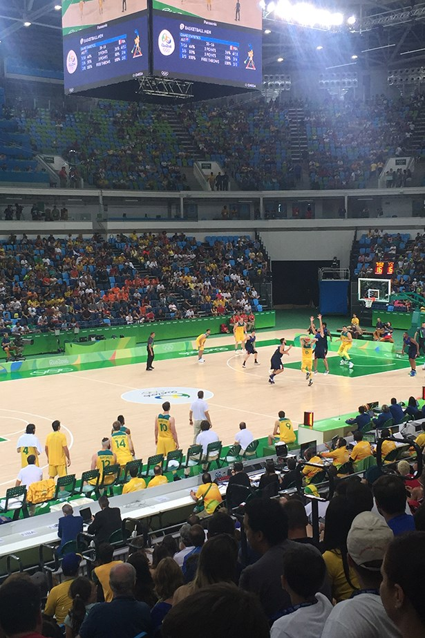 The Boomers won their first round against the French.