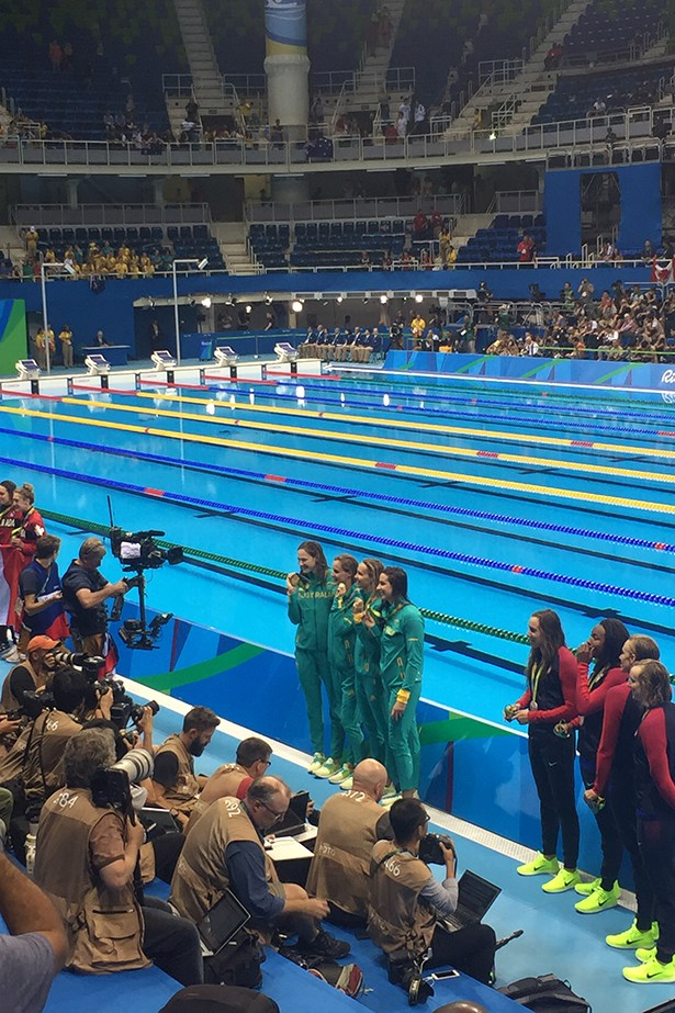 If there's anything more satisfying than winning gold in the pool, it's winning gold AND beating team USA.