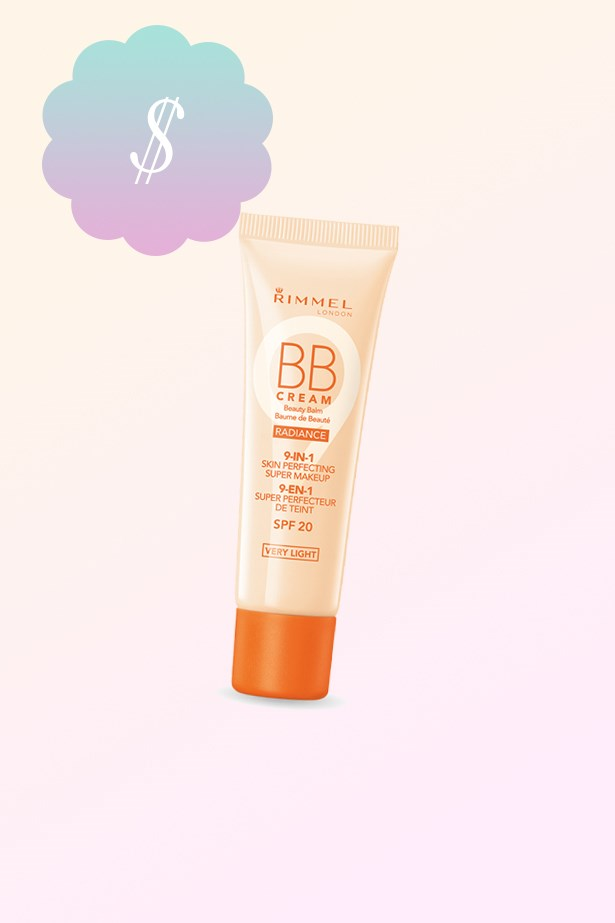 "Radiance BB Cream, $13.95, <a href=""https://www.priceline.com.au/rimmel-radiance-bb-cream-30-ml"">Rimmel at priceline.com.au</a>"